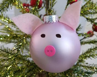 Pig Christmas Tree Ornament