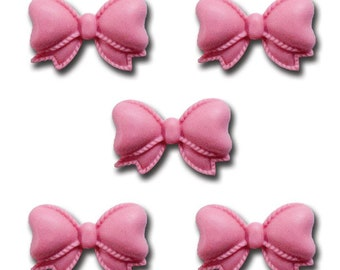 Maya Road Pretty Resin Bows - Carnation Pink