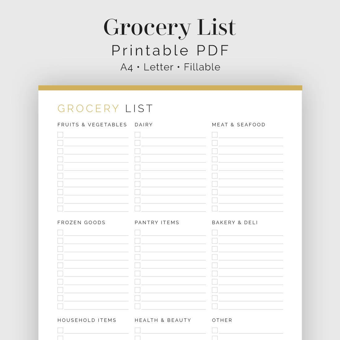 Weekly Meal Planner Printable ($3) | Printable Meal ...