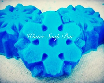 soap-homemade-winter-musk-cocoa oil-snowflake-soapy-winter-seasonal-gifts-gift idea-gifting-holidays-christmas-stocking stuffer-fresh-clean