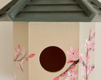 Cherry tree bloom birdhouse