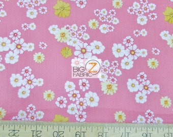 "100% Cotton Fabric By RJR Fabrics - Home Sweet Home Pink Floral - 45"" Wide By The Yard (FH-2191) Dan Morris"