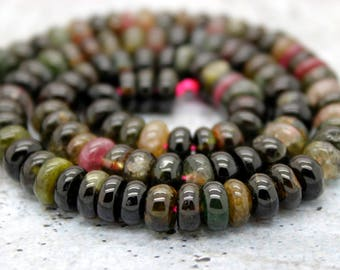 Multicolor Tourmaline Rondelle Gemstone Beads