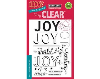 Hero Arts Clear Stamps CM186 Color Layering Joy Message