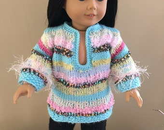 """Tunic style sweater for your AG doll  or any 18"""" doll . Sweater , pullover"""