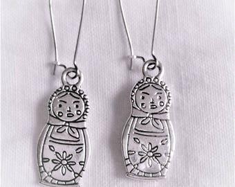 Russian dolls Silver earrings