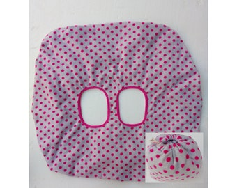 Shopping Trolley Seat Cover /shopping cart cover/higt chair cover/ Shopping Cart Seat Liner - pink spot micro fleece