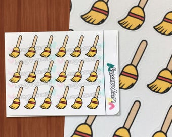 Broom Icon - Cleaning - Sweeping - Planner stickers - ECLP, Happy Planner, Filofax, scrapbooking and more!