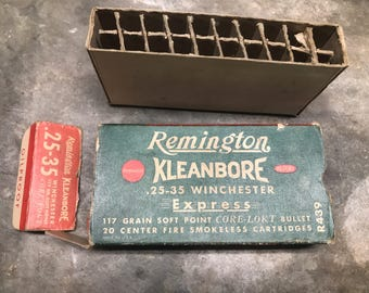 Remington Kleanbore 25-35 Winchester Express Empty Ammunition Box