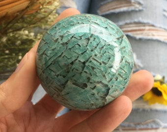 amazonite sphere , amazonite,  healing stone, amazonite orb, amazonite crystal ball