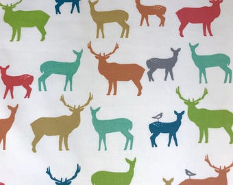 Organic crib sheet, Deer crib bedding, Organicl baby gift, Woodland baby boy or girl bedding, Deers nursery, baby organic fabric bedding.