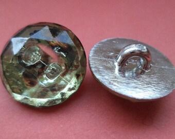 18 mm (5397) rhinestone button buttons 9 RHINESTONE BUTTONS silver