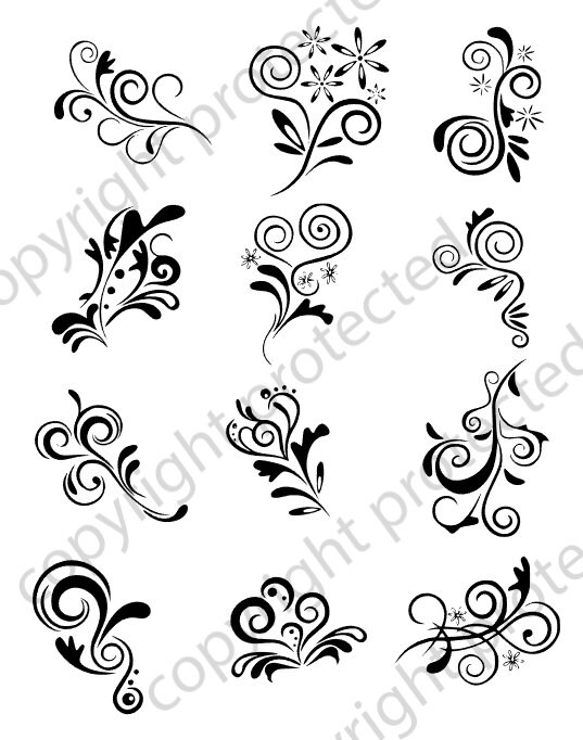 svg file digital scroll svg files used for vinyl cutting and silhouette cameo software fancy svg