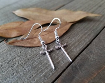 Angel blade earrings - supernatural angel earrings - supernatural angel blade - angel blade - supernatural blade - supernatural jewelry