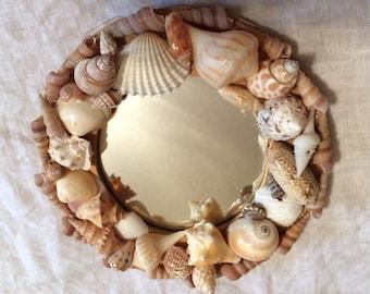 Small round Sea Shell Mirror