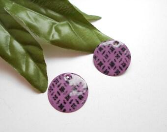 x 2 sequins purple black