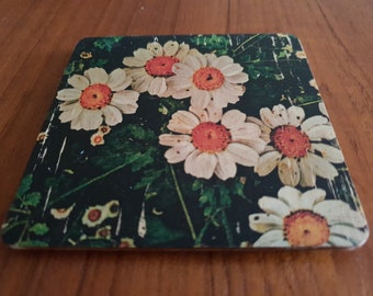 Rustic Handmade Wooden Coasters - Set of 4