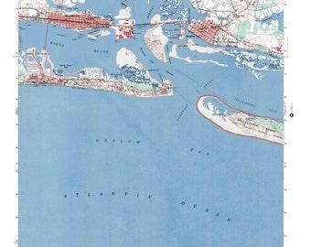 Beaufort NC Art, Beaufort Print, Beaufort Map, Beaufort Poster