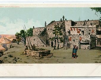 Hopi Native American Indian House Grand Canyon Arizona 1907c postcard