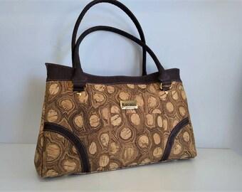Lady Cork Handbag - Fine Cork Bag - Cork Purse - Eco-friendly Shoulder Bag - 100% Natural Cork