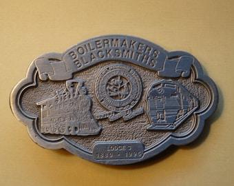 Boilermakers/Blacksmiths/Shipbuilders 115th Anniversary Belt Buckle