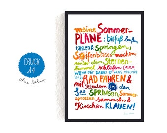 Print *Sommer* (Text in German)