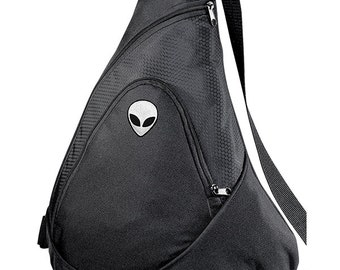 Alien Space Aesthetic Sporty Goth Tumblr Embroidered Backpack Bag