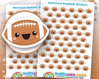 61 Cute Football/American Football/Sport Planner Stickers, Filofax, Erin Condren, Happy Planner,  Kawaii, Cute Sticker, UK