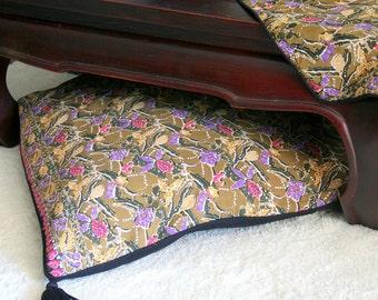 Placemat In Hmong Indigo Batik Cotton 4 Different Patterns