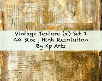 Vintage Textures, Set 1, 2 X JPEG's  Printable Digital files  , A4 Size , 300 DPI JPEG , Digital, Collage , Card making, digital collage etc