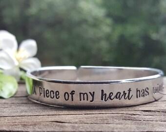 A Piece Of My Heart Has Wings ™ Memorial Bracelet | Remembrance Bracelet | Bereavement Gift