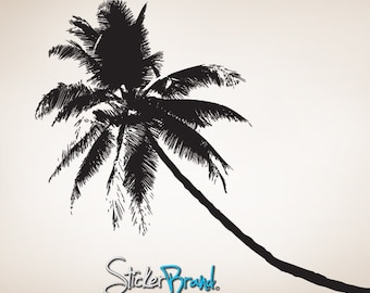 Vinyl Wall Decal Sticker Tropical Palm Tree 781s