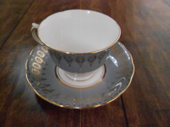 Colclough/ Bone China Cup and Saucer/ Mid Century