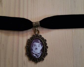 Charlie Chaplin look Choker necklace / Necklace / retro / Vintage