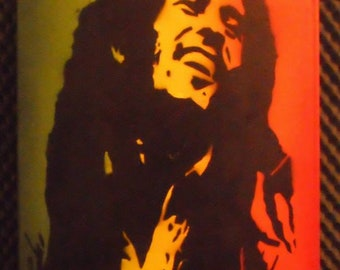 Bobo Marley / canvas / spraypaint / stencil