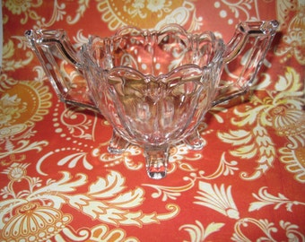 Vintage pressed glass sugar bowl