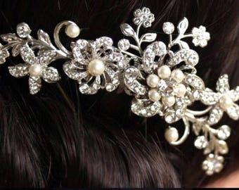 Bridesmaids hair comb wedding pearl bridal comb
