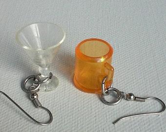 Drunken Earrings - Found Object Earrings