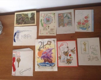 Vintage 21st birthday cards 1946