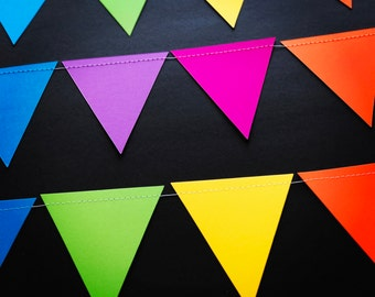 Jumbo Colourful Triangle Pennant Garland