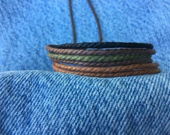 Hemp Bracelet, Vegan Jewellery, Hemp Cord Bracelet, Vegan Bracelet, Hemp Jewelry, Gifts Under 10 Made Well, Priced Right HB-17