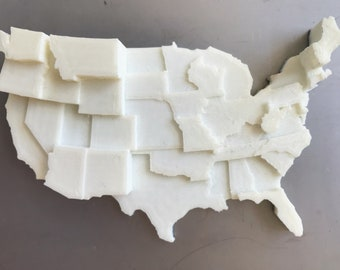3D Printed Map | Infographic Fridge Magnet | UFO Sightings Data Visualization