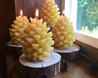 Pine Cone Shaped Candles