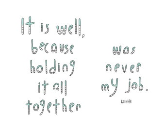Haiku Art // Holding it Together