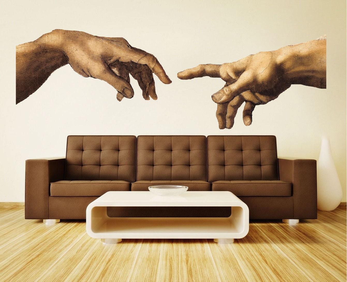 Michelangelo Hände Aufkleber Wand-Dekor moderne und