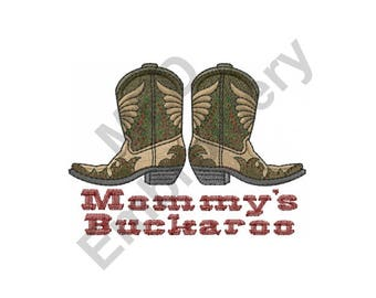 Cowboy Boots - Machine Embroidery Design, Cowboy, Western, Mommy's Buckaroo, Mommy, Buckaroo