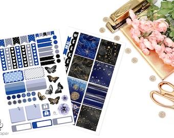 HORIZONTAL Celestial Sticker Set for Erin Condren Planners