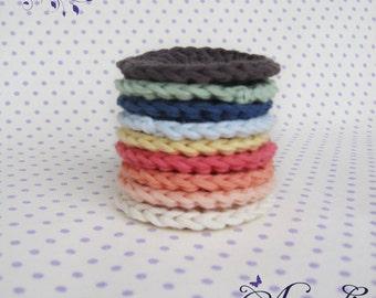 Face Scrubbies, Crochet cotton scrubbies, Crochet Makeup Removers, scrubby Mini Washcloths, gift women