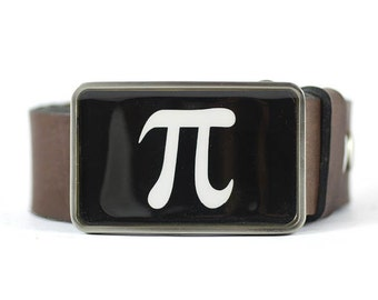 Math Belt Buckle, Pi Symbol Belt Buckle, Science Belt Buckle, Geek buckle