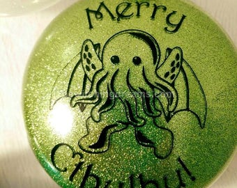 Merry Cthulhu Ornament - Green - Made To Order